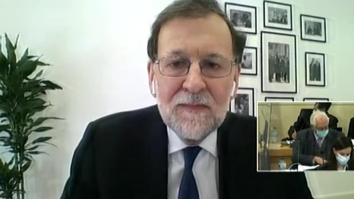 Mariano Rajoy, durante su declaración como testigo ante el tribunal de la caja B.