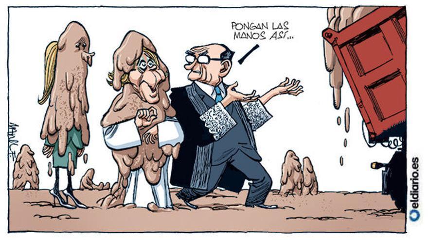 Fontdevila retrata la imputación de Esperanza Aguirre y Cristina Cifuentes en la Púnica