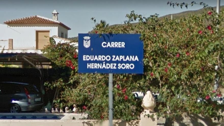 Calle de Eduardo Zaplana en Pego