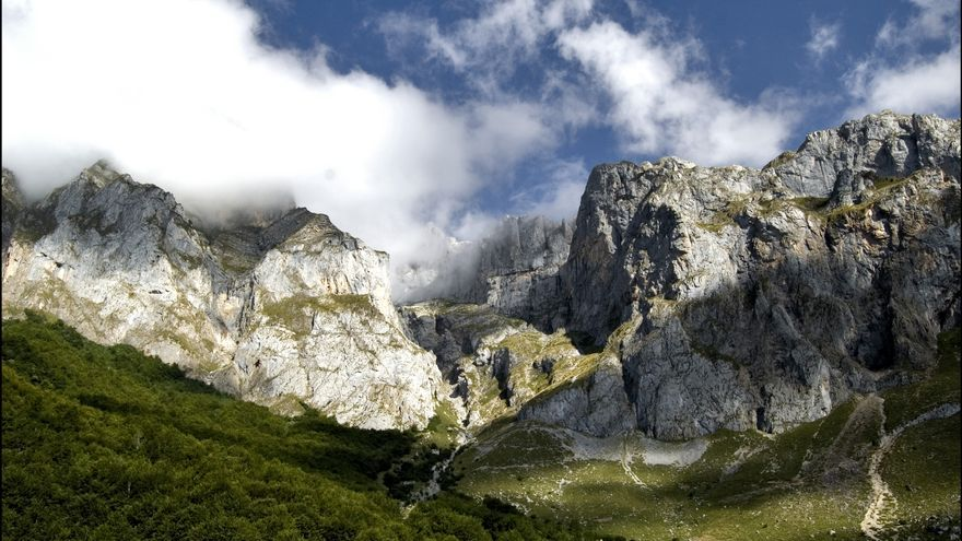 Los Picos de Europa. Imagen obtenida en Flickr, CC.