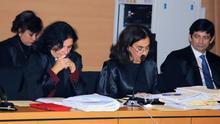 La viceconsejera de los Servicios Jurídicos, Isabel Cubas, (izquierda) en el juicio del caso Stravs.