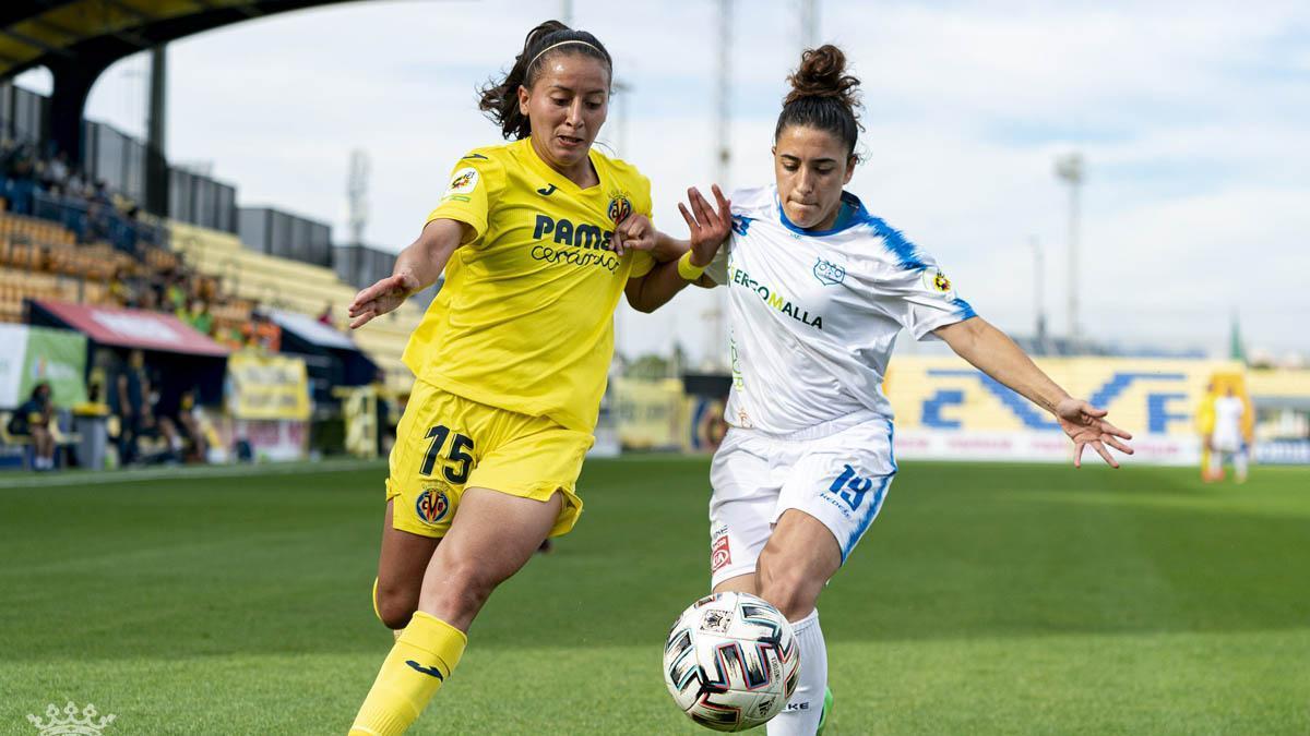 Lance del duelo entre el Villarreal y el Pozoalbense