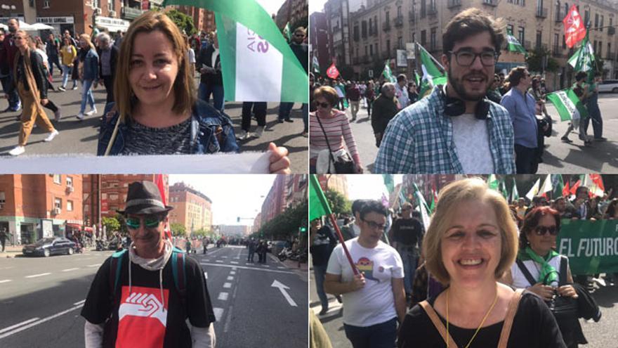 Cuatro de los protagonistas de la manifestación del 28 de febrero