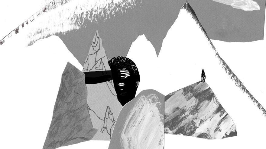 Ilustración de la novela 'Subir hacia abajo'