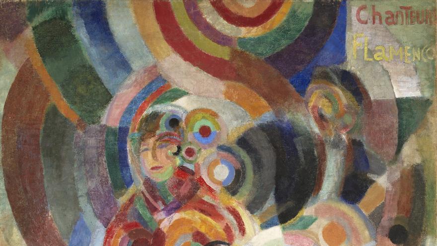 'Cantantes de flamenco', óleo y cera sobre lienzo