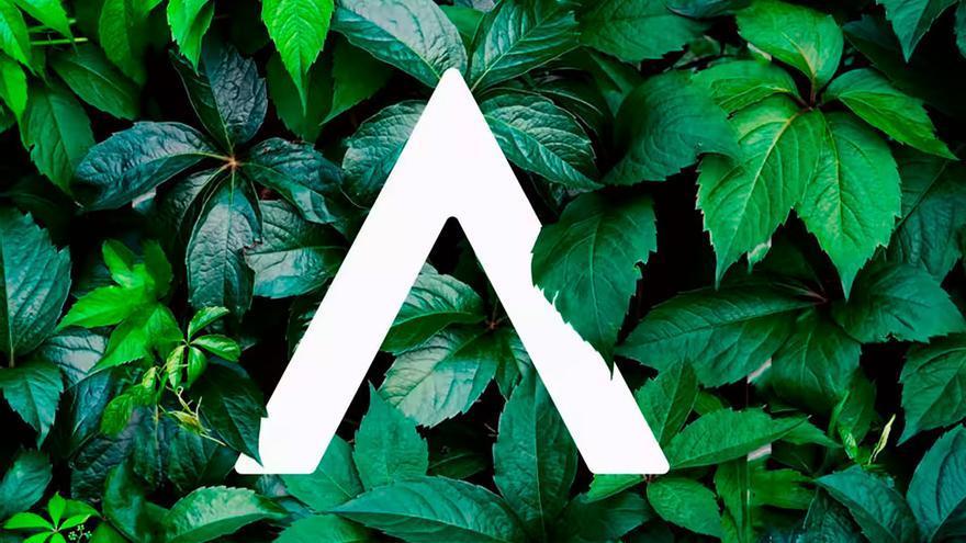 La A del nuevo logo de BBVA.