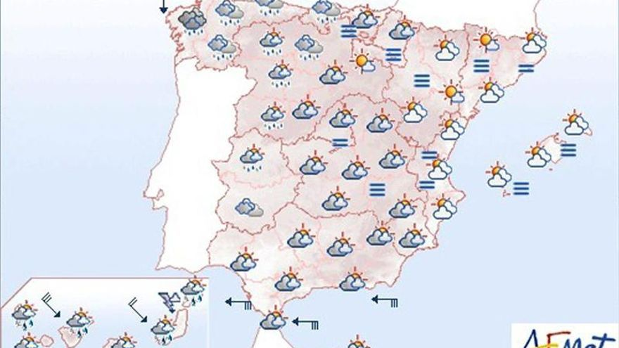 Precipitaciones fuertes en Canarias y persistentes en Galicia