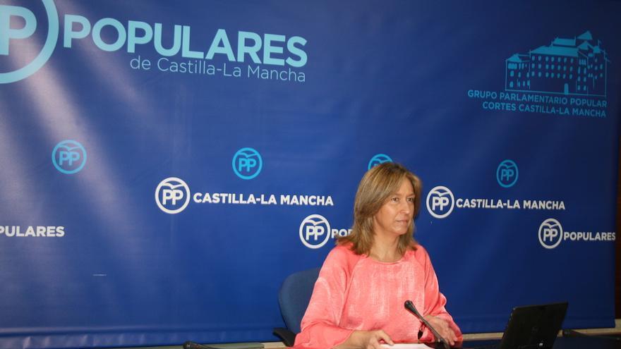 Ana Guarinos durante la rueda de prensa. FOTO: PP Castilla-La Mancha