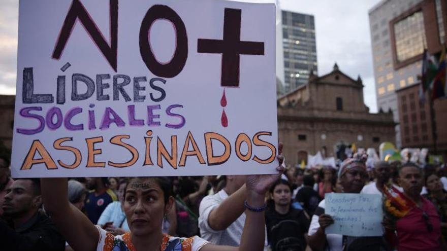 La Fiscalía colombiana ha esclarecido 177 homicidios de líderes sociales