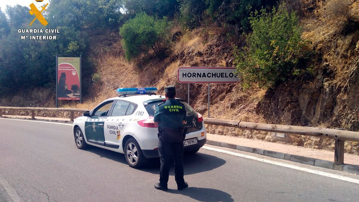 Guardia Civil en Hornachuelos (Córdoba).