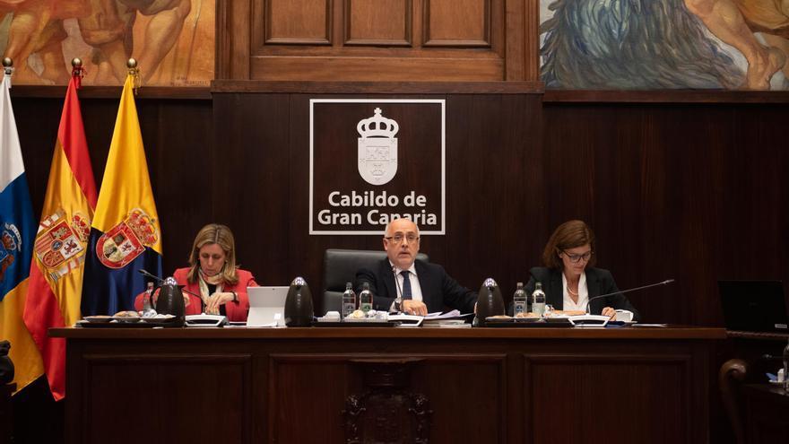 El presidente de Cabildo de Gran Canaria, Antonio Morales, en el último pleno.