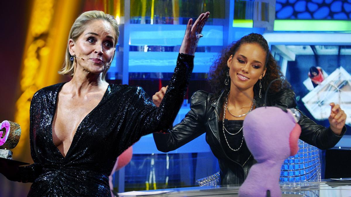 Sharon Stone y Alicia Keys