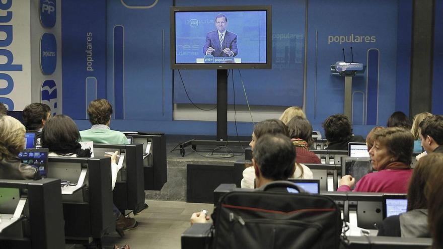 Mariano Rajoy, en una rueda de prensa mediante videoconferencia. (Twitter)