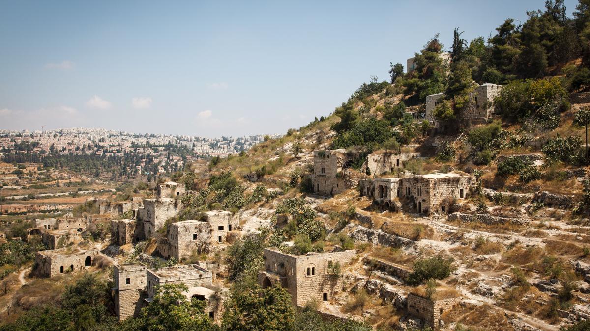 Imagen de la aldea de Lifta, en Cisjordania