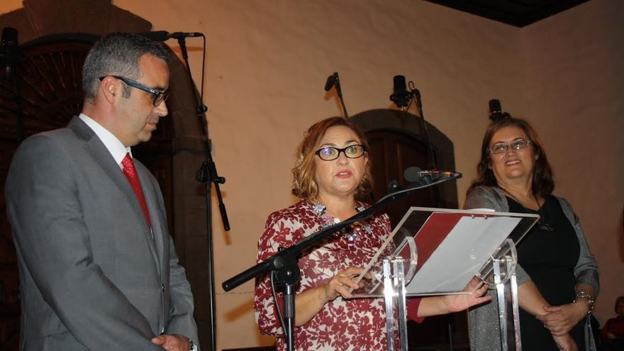 Sergio Matos, Cristina Alcaine y Guadalupe Gonzáñez Taño.