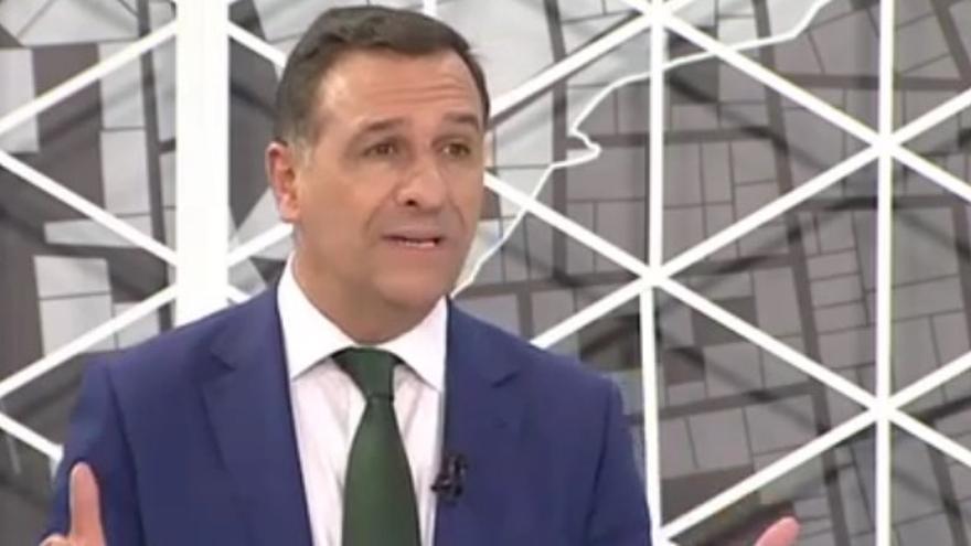 Juan Antonio Morales, candidato de Vox, durante el debate