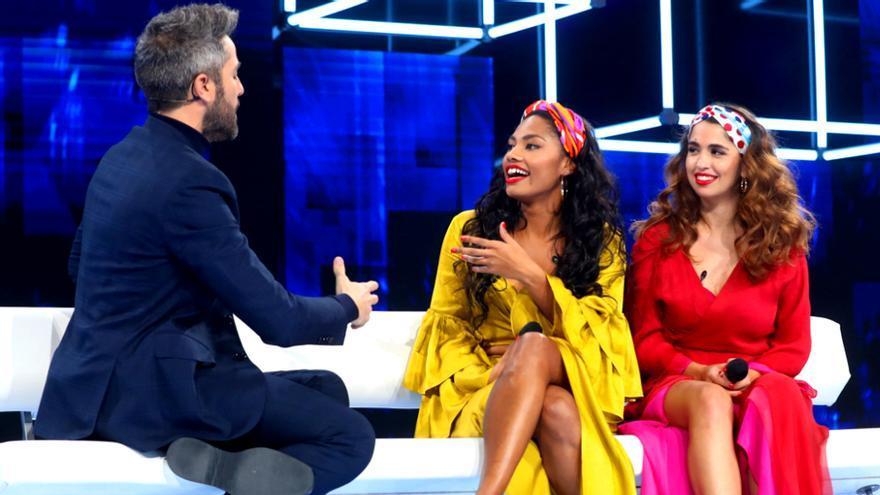 Roberto, Nia y Anaju en la gala 2 de OT 2020