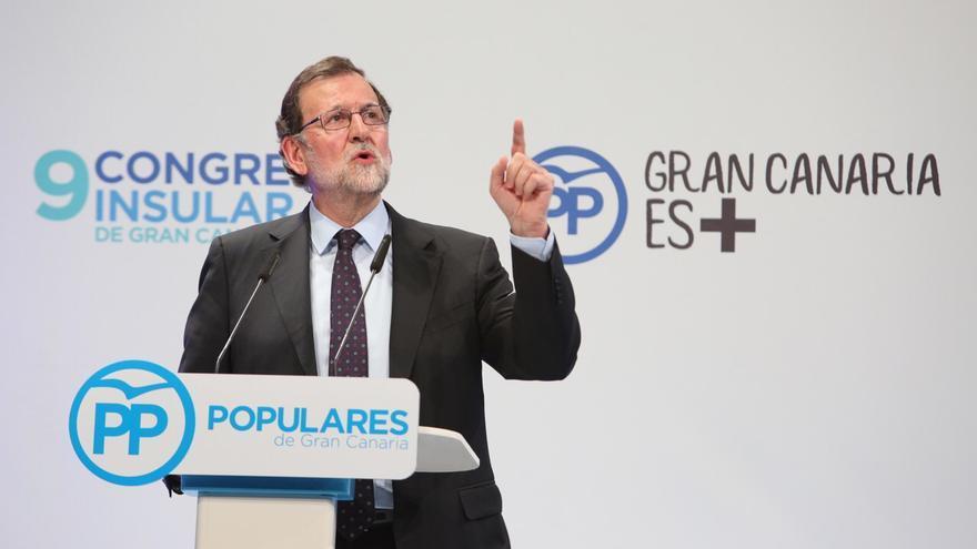 Mariano Rajoy, durante el cierre del Congreso del PP de Gran Canaria
