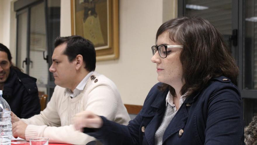 Sergio Ramos y Ana Martínez momentos antes del debate en Aljucer / PSS