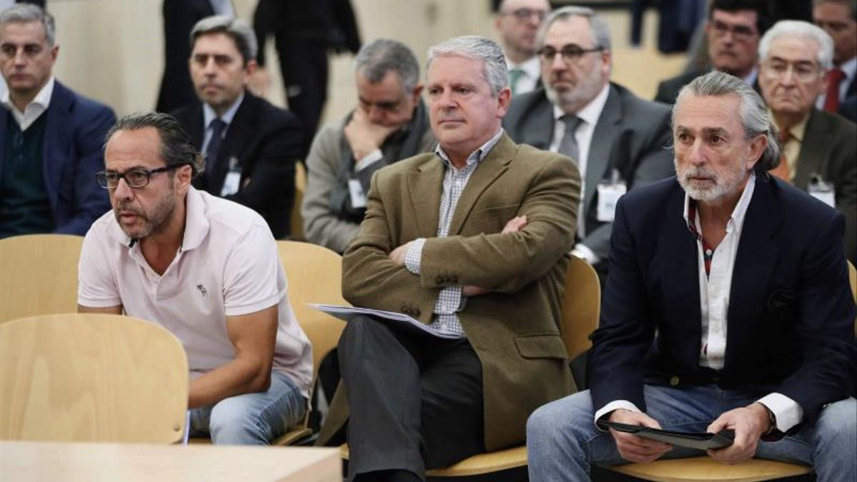 Álvaro Pérez, Pablo Crespo y Francisco Correa durante uno de los juicios de la trama