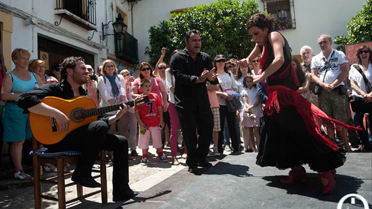 Artistas flamencos, en una imagen de archivo durante los Patios
