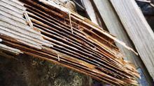 Madera destrozada por las termitas en Tenerife