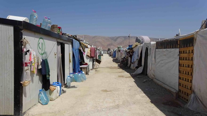 Campo de refugiados sirios en el valle del Bekaa (Líbano). Imagen: Evelien van Roemburg (Oxfam)