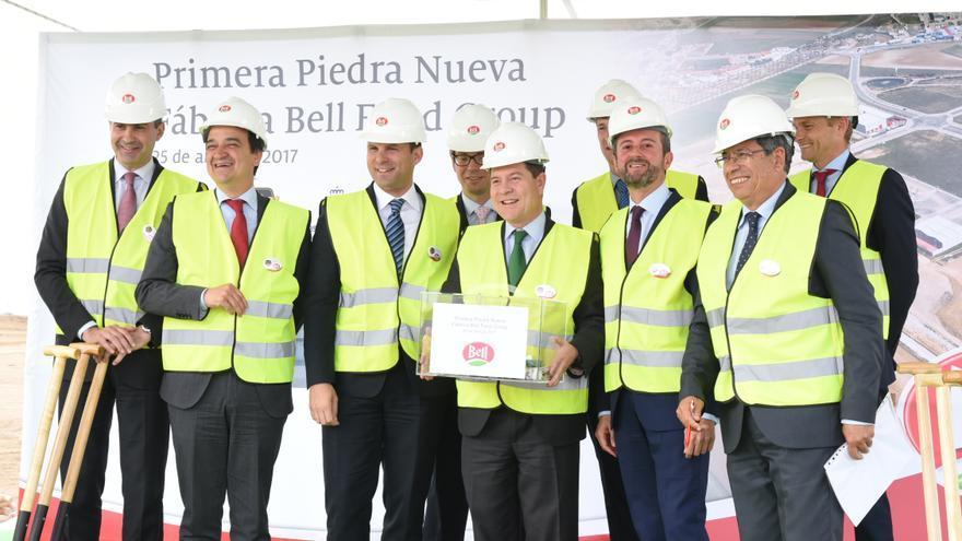 Primera piedra de la multinacional suiza Bell Schweiz AG en Fuensalida
