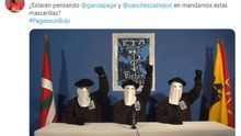 """Una diputada autonómica del PP usa una foto de encapuchados de ETA contra Page y Sánchez: """"¿Están pensando en mandarnos estas mascarillas?"""""""