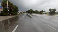 La avenida US1, arteria principal de Miami, antes de la llegada del huracán Irma.