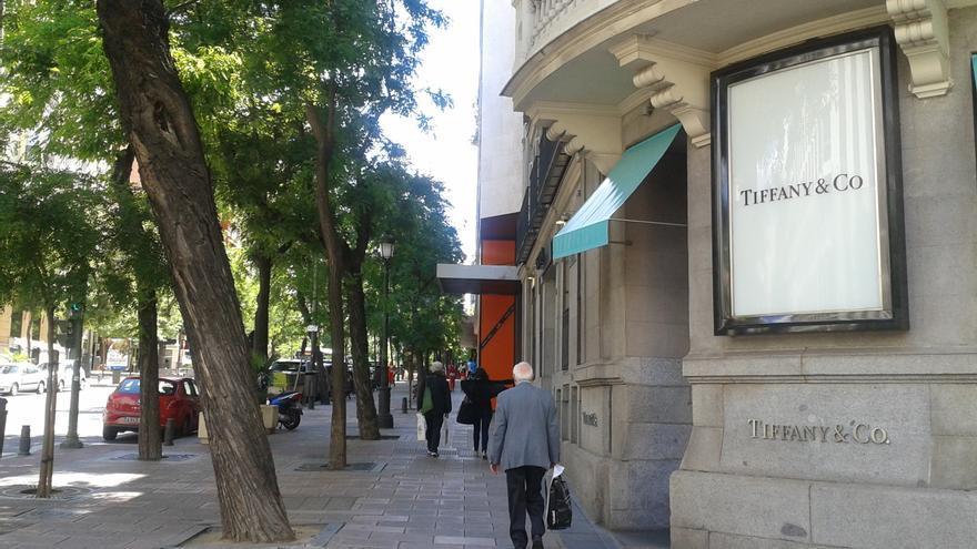 Lo que llaman La Milla de Oro en Madrid.