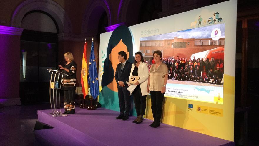 María Blasco en la entrega de premios en Madrid