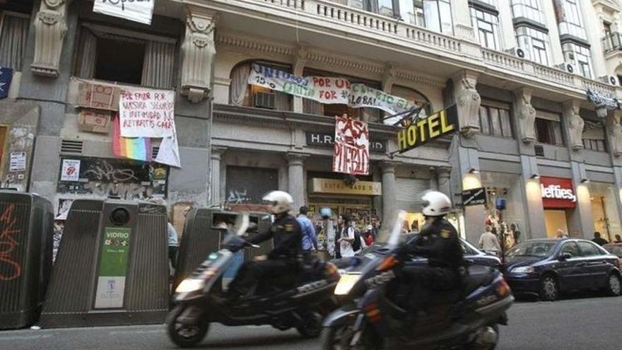 El Hotel Madrid, okupado