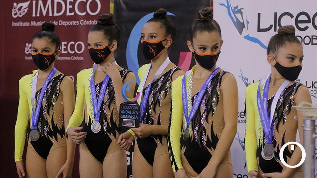 Gimnastas en el Torneo Ciudad de Córdoba 2020.