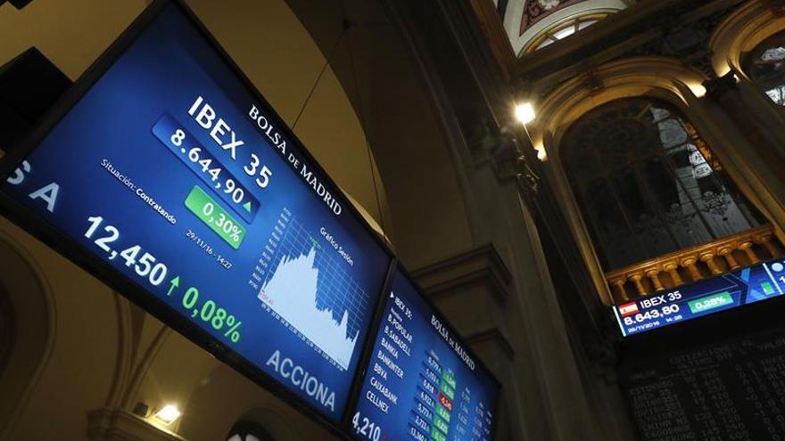 La Bolsa española se da la vuelta y se aproxima a los 8.700 puntos