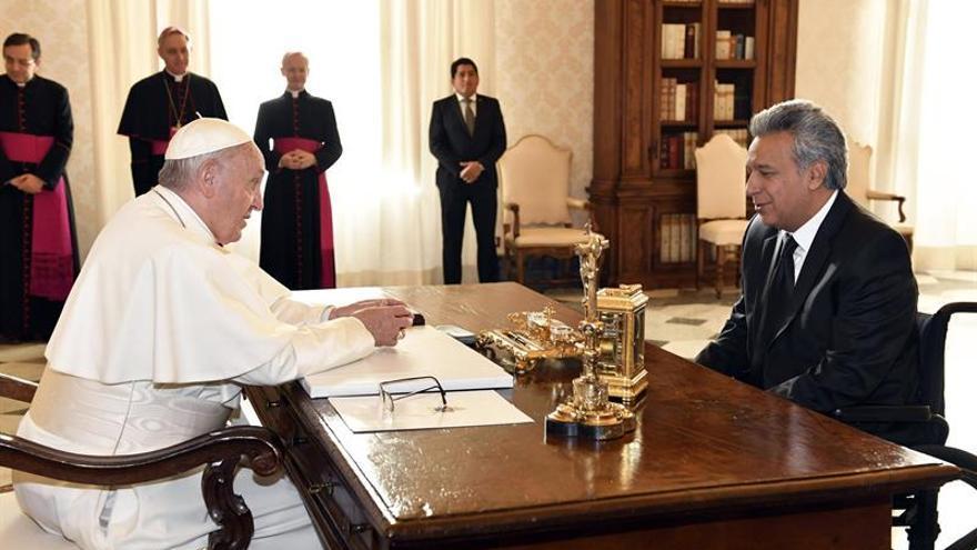 Lenín Moreno se reunió durante 42 minutos con el papa en el Vaticano