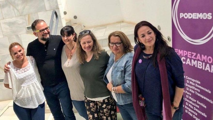 Santana, Peñas, Padilla, Rosell, Pita y Del Río, en Lanzarote
