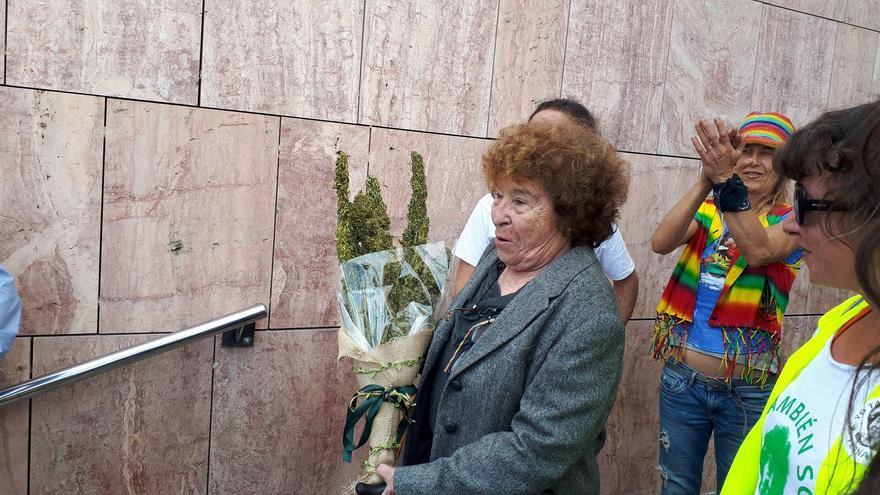 Fernanda de la Figuera, a la salida de los juzgados de Málaga | N.C.
