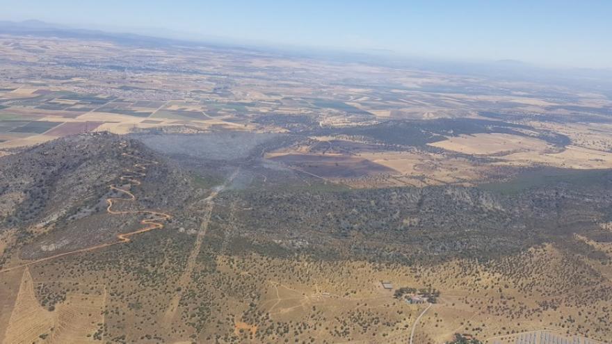 Imagen aérea del incendio / @Junta_Agricultu