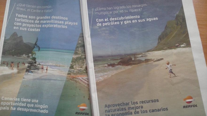 Campaña publicitaria de Repsol en medios impresos.