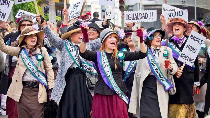 Protesta a favor de la Igualdad en los pasados carnavales.