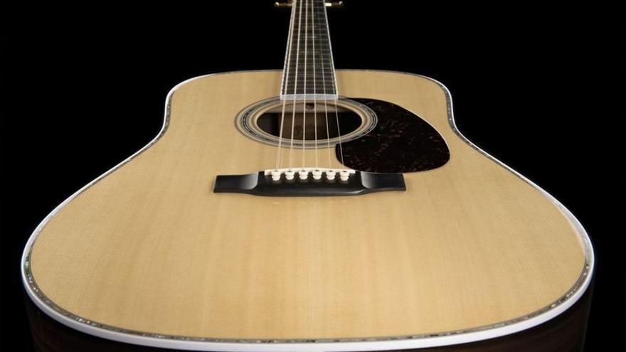 Una guitarra de palisandro
