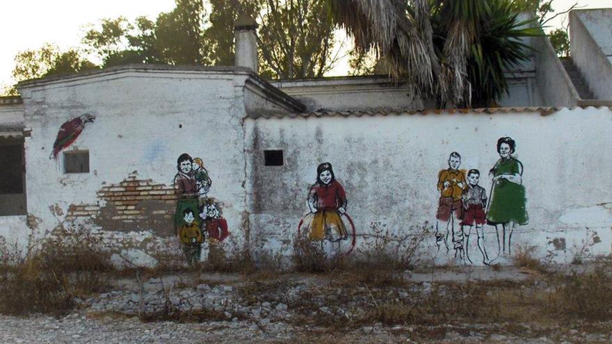 Intervención artística en el poblado Queipo de Llano.