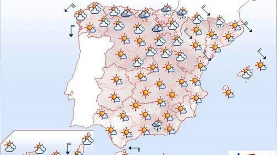 Persiste viento en el nordeste peninsular, litoral gallego y Menorca