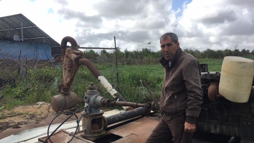Ribhi Abed, agricultor en la franja de Gaza