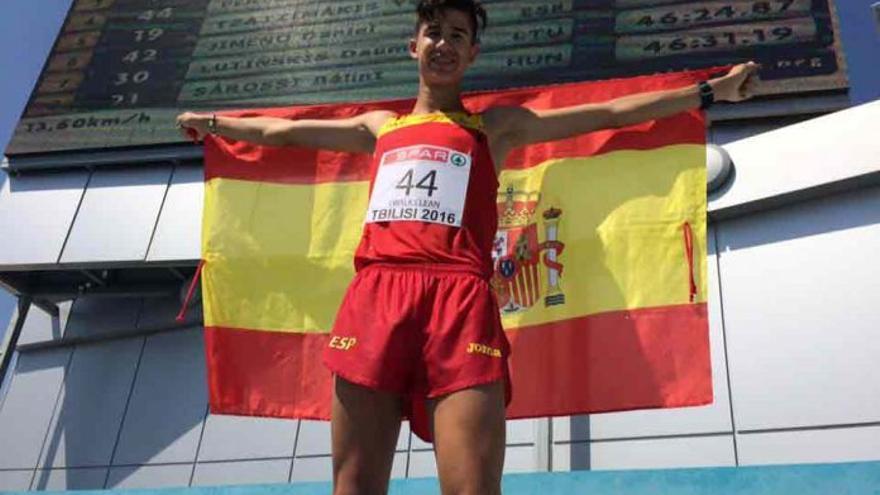 El joven marchador de Guadix José Manuel Pérez, subcampeón de Europa sub 20