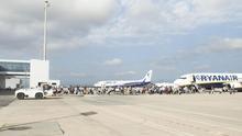 La Generalitat Valenciana quiere copiar el modelo de aparcamiento de aviones de Teruel en el aeropuerto de Castelló