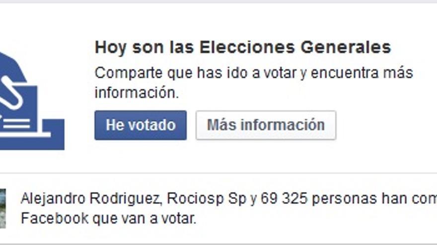 """La red social ha creado el botón: """"He votado""""."""