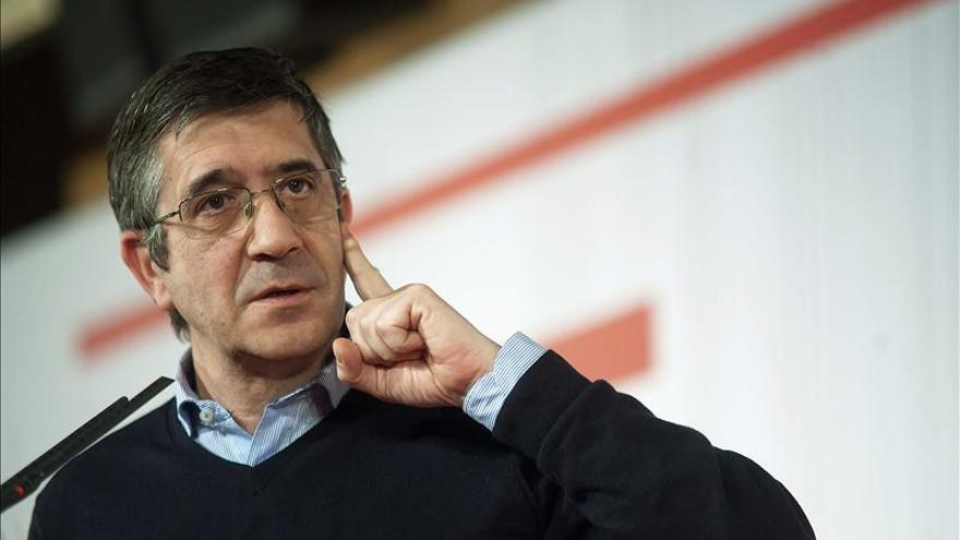 Patxi López: El PSOE debe recuperar la credibilidad y la cercanía perdida