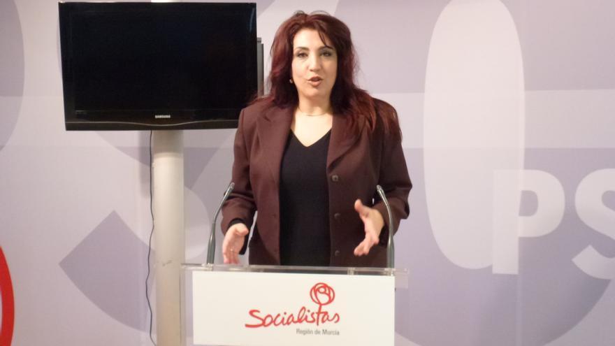 María José Lajarín, secretaria de movilidad e infraestructuras del PSRM-PSOE